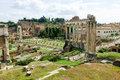 Rome imperial capital city historical monuments age Roman and Renaissance Royalty Free Stock Photo