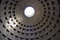 Rome inside the pantheon in was built as a temple today is a christian basilica Stock Photos