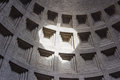 Rome inside the pantheon in was built as a temple today is a christian basilica Royalty Free Stock Image