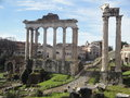 Rome, Italy, ancient Roman forum Stock Image