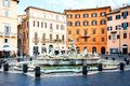 Rome, Italy, 26 April 2017. Fountain of Neptune at the northern end of Navona Square /Piazza Navona/ Royalty Free Stock Photo