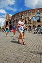 Rome italy august one of the greatest works of roman archit architecture and engineering coliseum in construction began Stock Image