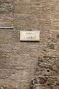 Rome italy borgo san angelo street name on ancient city walls Stock Photography