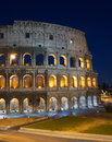 Rome, Italy, Coliseum by night Royalty Free Stock Photography