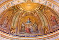 Rome italy fresco christ in glory in the church chiesa dis san bartolomeo all isola by capuchins painter bonaventura loffre march Royalty Free Stock Photos