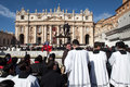 Rome italy march pope francis inauguration mass march rome Royalty Free Stock Photography