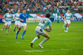 Rome italy november rugby test match italy argentina argentinian player in action on green playground Stock Images
