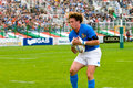 Rome italy november rugby test match italy argentina mauro bergamasco in action on playground Stock Image