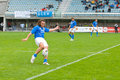 Rome italy november rugby test match italy argentina paul griffen in action on playground Royalty Free Stock Image