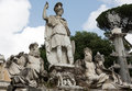Rome italy pincio fountain at famous piazza del popolo square Royalty Free Stock Images