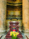 Rome, Italy - September 10, 2015: Inside the Pantheon. Pantheon is a famous monument of ancient Roman culture, temple of Royalty Free Stock Photo