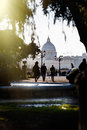 Rome, Italy. St. Peter's dome Royalty Free Stock Photo