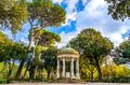 Temple of Diana on the grounds of the Villa Borghese park in Rome, Italy