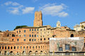 Rome italy view on trajan s market overlooked by torre delle milizie one of the city s tallest medieval towers built in the th Royalty Free Stock Images