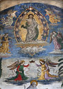 Rome jesus teacher engels fresco church santa maria aracoeli Royalty Free Stock Images