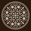 Rome medieval ornament victorian design circle floral Stock Photos