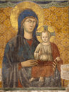 Rome -  The Most Holy Mother of God - fresco Royalty Free Stock Photo
