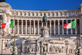 Rome with National Monument of Victor Emmanuel II in Italy Royalty Free Stock Photo