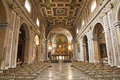 Rome - nave of Santa Maria Aracoeli Stock Photo