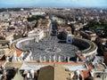Rome panoramic view Stock Photo