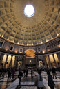 Rome pantheon italy the third largest masonry dome in the world with its famous oculus in the ceiling Stock Photos