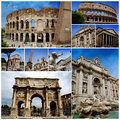 Rome Photo Collage Stock Photo