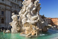 Rome, Piazza Navona, Fountain from Bernini in Italy Royalty Free Stock Photo