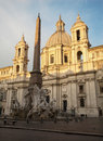 Rome - Piazza Navona in morning Royalty Free Stock Photo