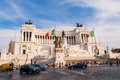 Rome piazza venecia in italy Royalty Free Stock Image