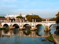 Rome, Sant'Angelo bridge Royalty Free Stock Photography