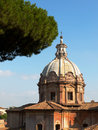 Rome santi luca e martina church near forum romanum italy Stock Images
