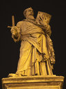 Rome - statue of st. Paul on the Angels bridge Stock Image