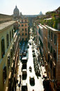 Rome street aerial view of a italy Royalty Free Stock Image