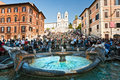 ROME -Tourists at The Spanish Steps Royalty Free Stock Photography