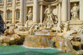 Rome Trevi Fountain Royalty Free Stock Photo