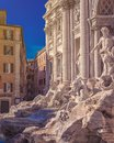Rome Trevi Fountain in Rome, Italy. Most famous fountain of Rome. Architecture and landmark of Rome