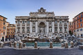 Rome trevi front full italy landmark fountain di with historic building facade at sunrise blurred water nobody renaissance Royalty Free Stock Photo