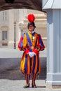 Rome. Vatican guardsman. Royalty Free Stock Photo