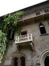 Romeo and juliet balcony the famous of in verona italy Royalty Free Stock Image