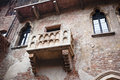 Romeo and juliet balcony in verona italy Royalty Free Stock Photos