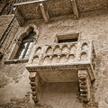 Romeo and juliet balcony in verona italy Royalty Free Stock Images