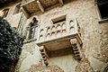 Romeo and juliet balcony in verona italy colorized photo for old mood Stock Photo