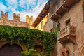 Romeo and Juliet balcony in Verona, Italy Royalty Free Stock Photo