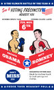 Romney contre la boxe 2012 américaine d'élections d'Obama Photos libres de droits