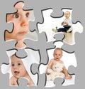 Rompecabezas del retrato del bebé Fotografía de archivo libre de regalías