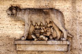 Romulus and Remus Carving Stock Photo