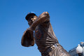 Ron santo statue outside wrigley field Royalty Free Stock Photos