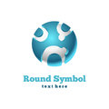 Rond pictogram. Abstract symbool Royalty-vrije Stock Fotografie