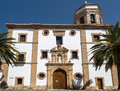 Ronda andalucia spain may church of the merced in ronda a on Royalty Free Stock Image