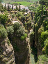 Ronda andalucia spain may view of the gorge at ronda anda on Stock Photos